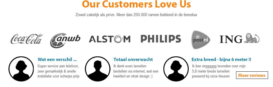 onze klanten / reviews