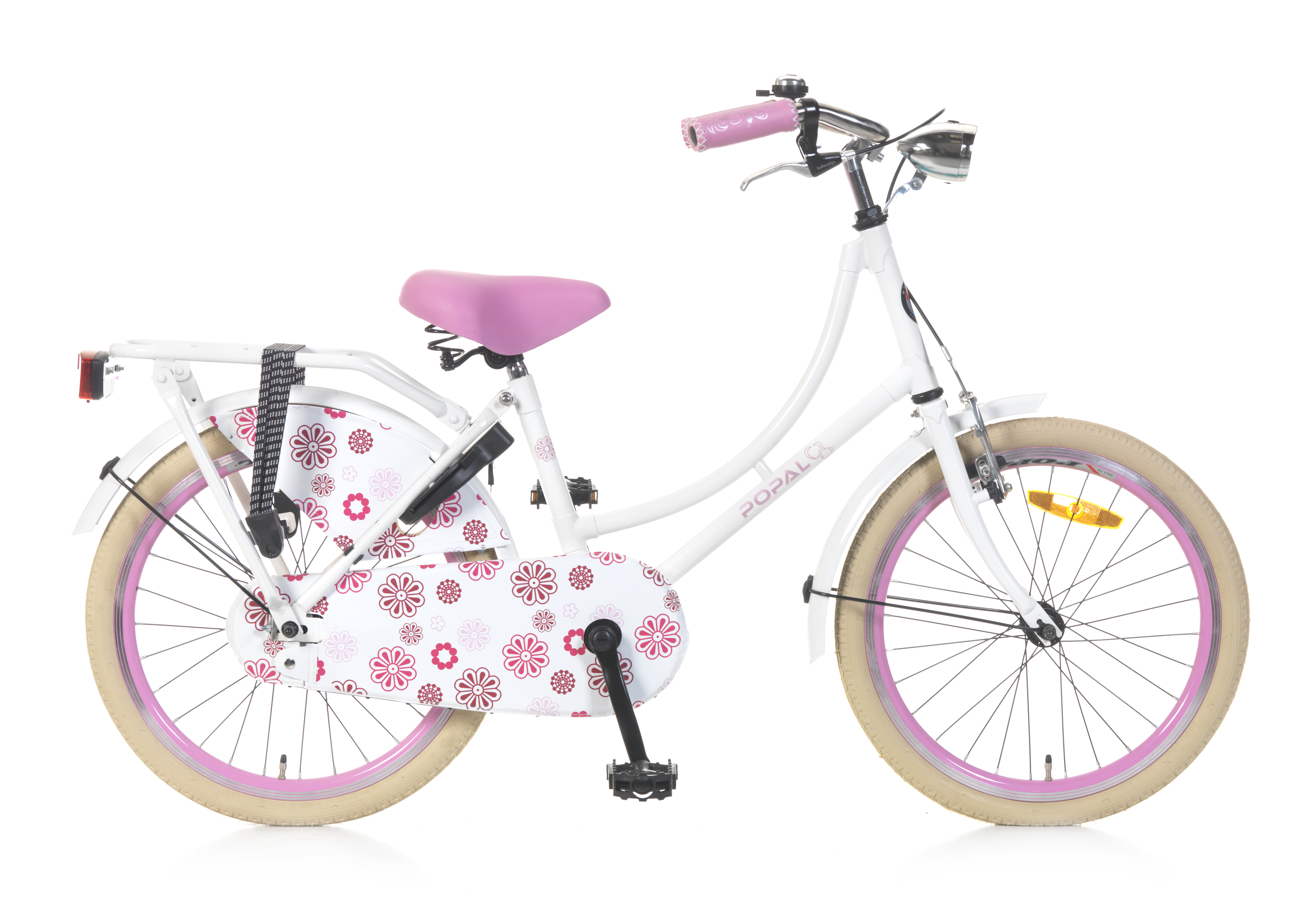 Omafiets 20 inch wit