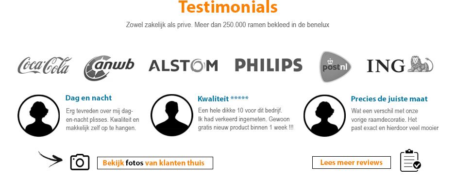 onze klanten plissegordijnenexpert.nl