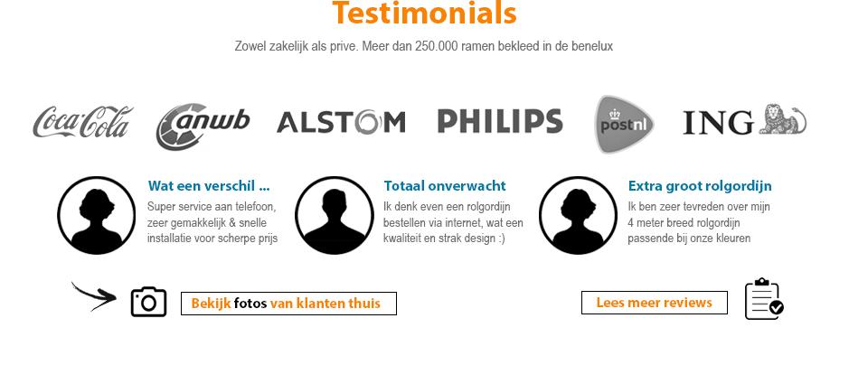 Reviews klanten - Testimonials