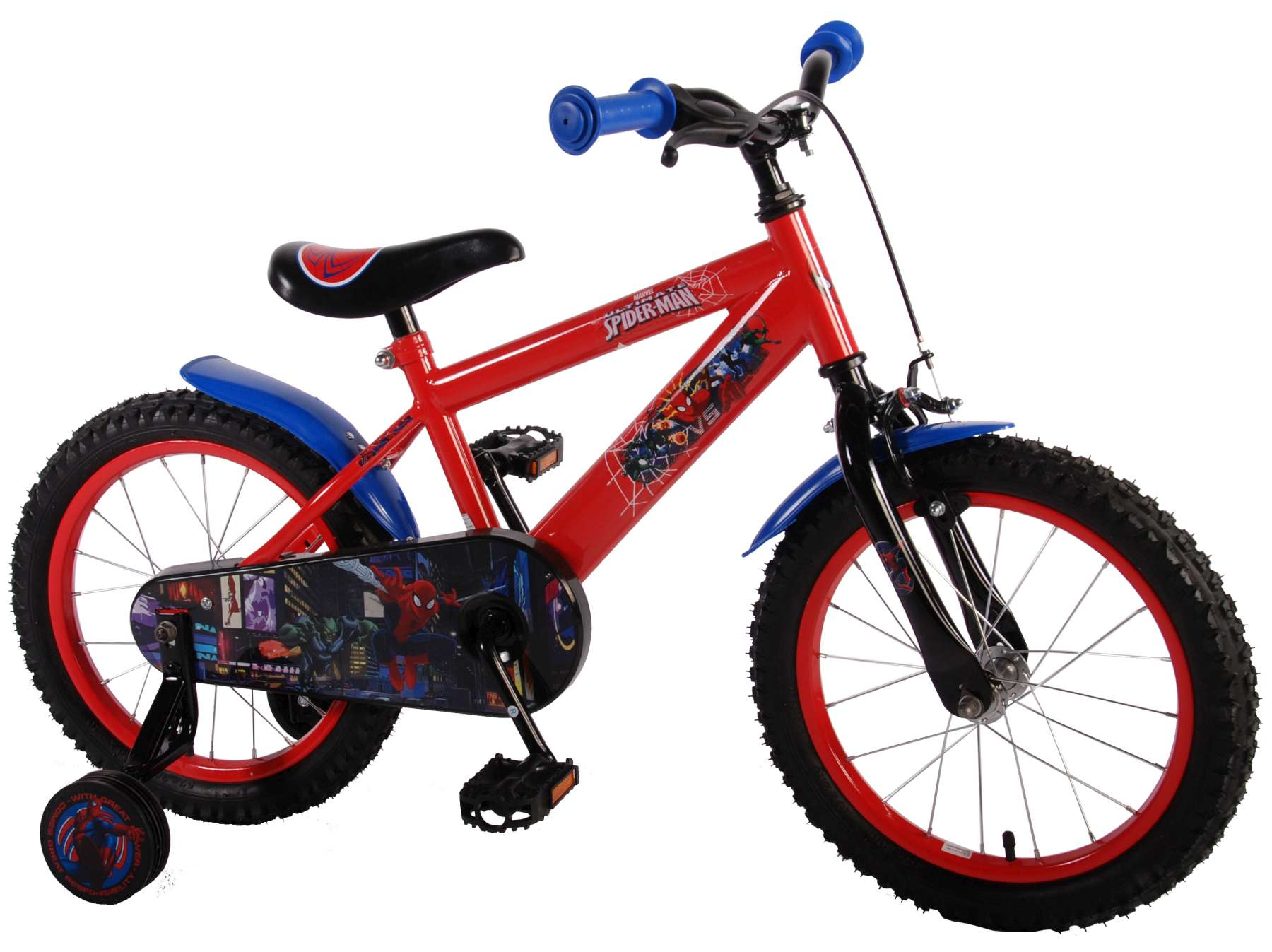 Spider-Man 16 inch fiets model 1