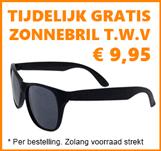 gratis zonnebril actie